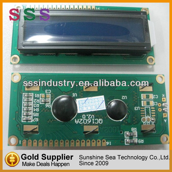 Built-in industry standard HD44780 equivalent LCD controller display 1602 module lcd 16x2