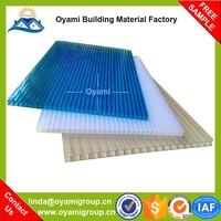 Triple wall lasting color plastic casting polycarbonate