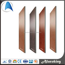 Alucobond PVDF/PE ACP/ACM Aluminum Composite Materials wood surface, wood wall paneling
