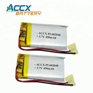 PCM protection 3.7v 450mah rechargeable lithium polymer battery 602040