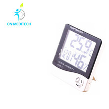 hanging LCD Digital Hygrothermograph Thermometer Humidity Meter indoor with clock