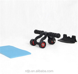Original Three Ab Wheel Roller With ab Mat Fitness Exerciser Abdomonal Abs Wheels
