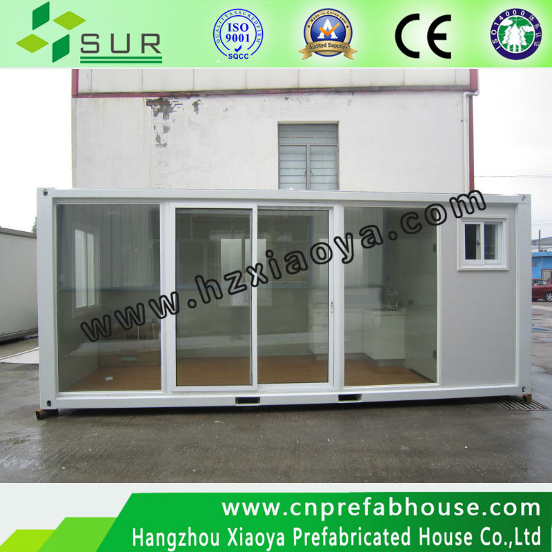 High quality mobile beautiful glass container homes for vacation/ Nice Design Prefab Container Homes for Sale