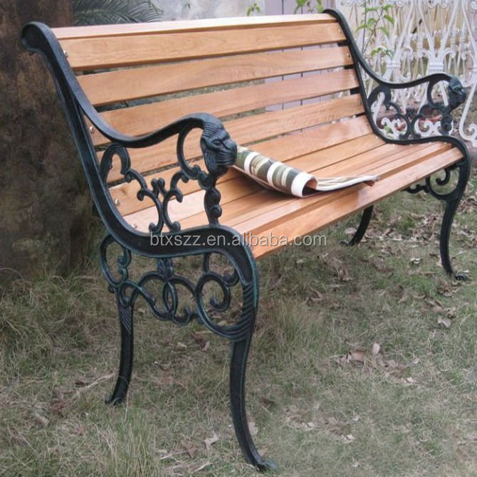 Durable outdoor bench and bench bracket,garden cast bench