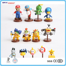 Custom pvc cute super mario products, plastic toy wholesale super mario bros for festival gifts