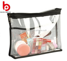 Clear pvc beauty plastic wholesale cosmetic bag with zipper