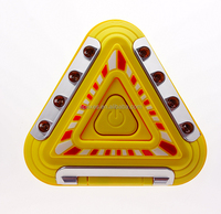 LED Car Emergency Warning Triangle High Visibility sign Light