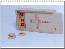 square 72 blocks alphabet letter board wooden block game educational domino game
