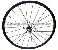 High quality 700c road bicyle for clincher or tubular carbon wheelset three spoke wheel