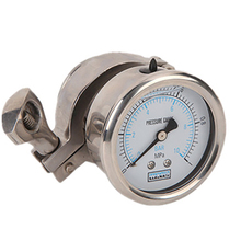 High Quality stainless steel sanitary diaphragm pressure gauge