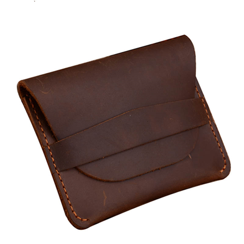 Crazy horse genuine leather Credit Card holder RFID men's <strong>wallet</strong>