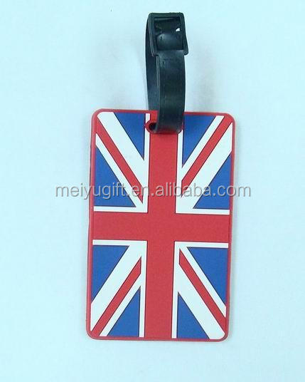 Customize national flag design travel luggage tag for travel agency gift