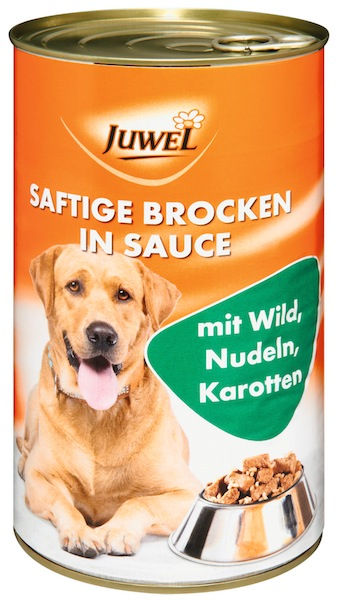 Juwel Dog Food Chunks with - Game, Noodles & Carrots