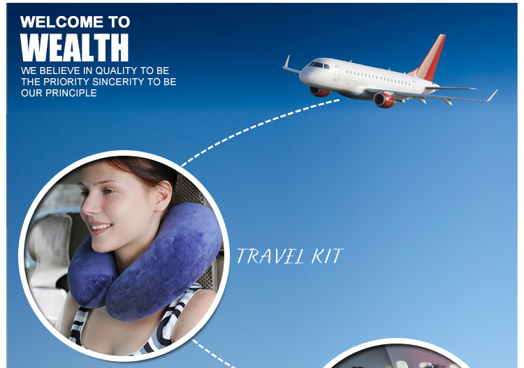 Hot selling portable amenity kits travel kit toiletries for airline