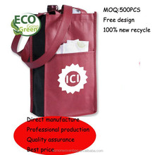 non-woven eco-friendly bottle bag for wine holder