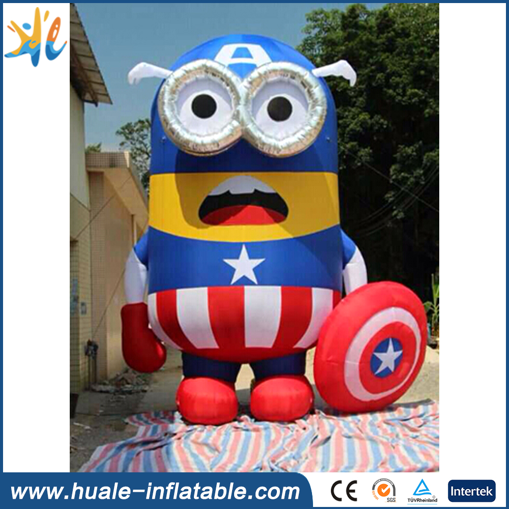 2016 hot sale large inflatable cartoon, inflatable minions for advertising