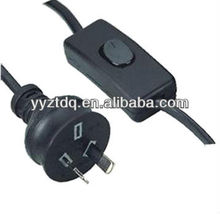 Australia E14 lamp Holder power cord with 303 on-off switch