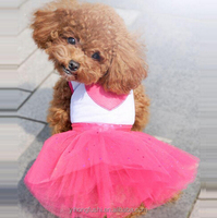 New 2015 Dog Party Clothes Fashoin Red Heart Dress For Dogs Beautiful Wedding Dress For Pets Brand Pets Clothing Supplies