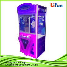 LED lighting plastic coin operated catching toy game machine