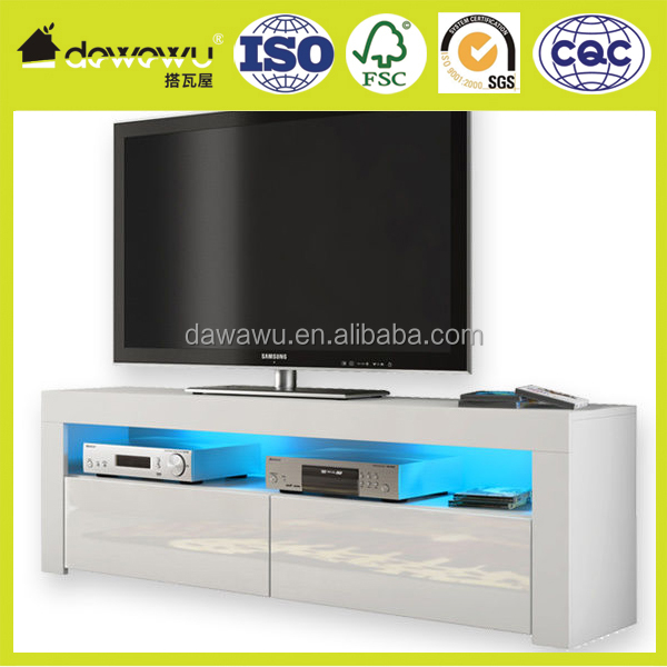 high gloss white new model tv stand FREE LED RGB