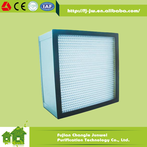 Aluminum Sheet Professional 99.99% Efficiency Hepa Filter For Clean Room