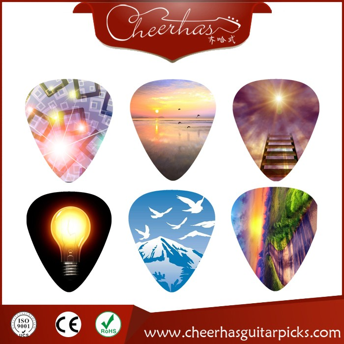 Custom Design Guitar Picks With Rock Musical Image