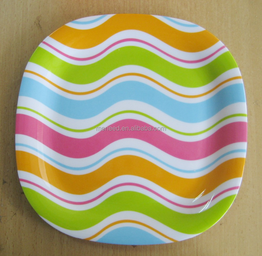Melamina Wholesale cheap dinner plate/square plate