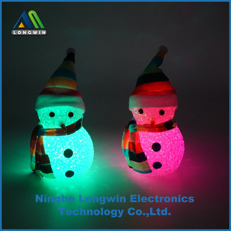 Christmas decoration snowman color changing led light