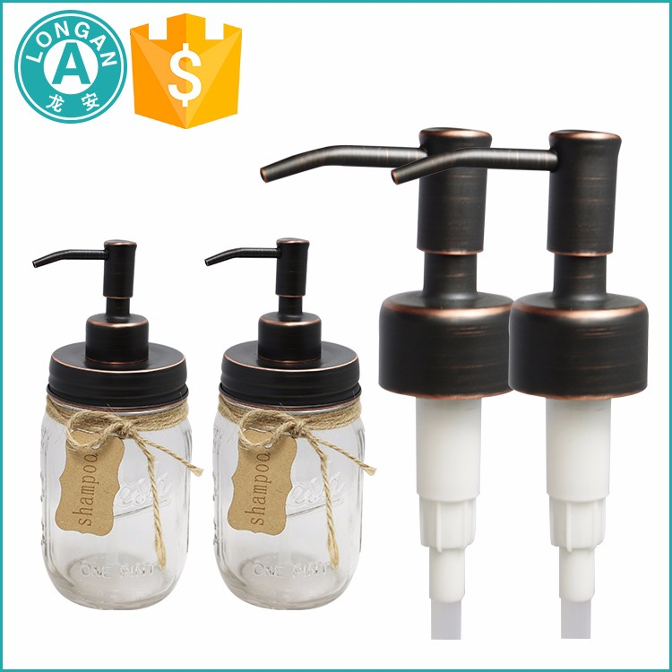 Factory competitive price stainless steel ORB finish bronze soap foam metal lotion pump for dispenser bottle