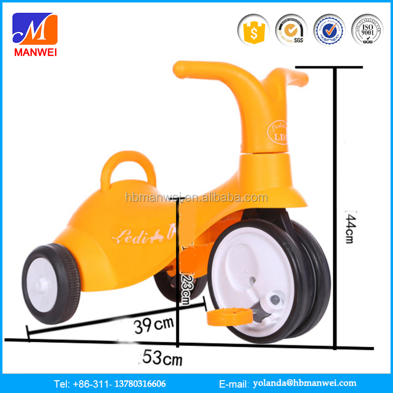 Manwei professional Kids PP and Iron material playing swing car manufacture