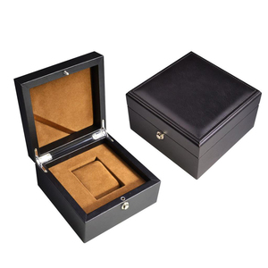 personalized top quality watch box pu leather with velvet lining