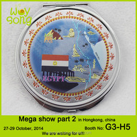 New design metal round compact mirrors