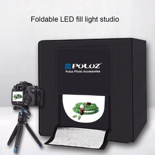 2017 New Arrival PULUZ Folding Portable 30W 5500LM White Light Photo Studio Shooting Tent Box Kit with 3 Colors Backdrops