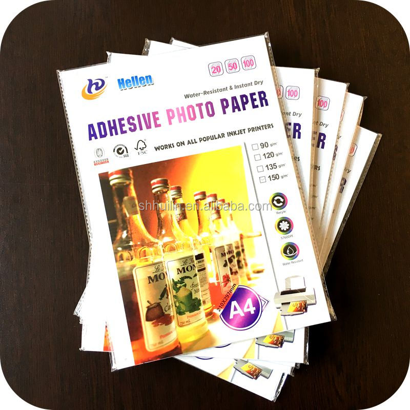 135g,150g 120g self adhesive inkjet paper roll photo paper inkjet label sticker printing photo paper