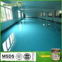 High hardness washable anti-static epoxy floor coating