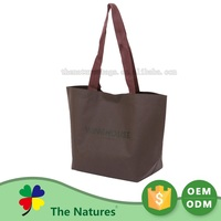 Custom Printed Logo High End Foldable Shopping Hanging Non-Woven Bag