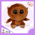 Stuffed big eyes organtuan ,plush toys monkey