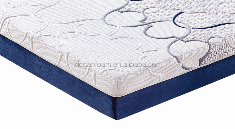 Natural latex cooling gel foam mattress pad