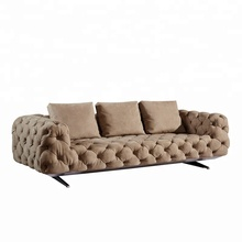 best selling European style tufted sofa fabric chesterfield leather metal legs Loft design luxury <strong>furniture</strong>