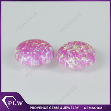Factory Price Round Cut Synthetic Pink Opal Rough
