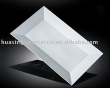 H8121 wholesale chaozhou white porcelain long rectangle plate