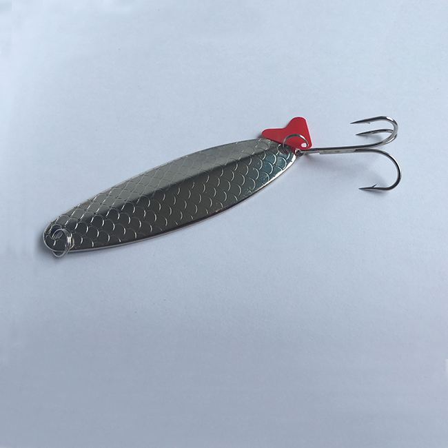 Metal fishing lures hard spoon baits spinner lures with hook