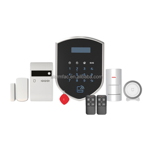 2017 Hot selling Wifi 3G GPRS smart wireless GSM home burglar anti theft alarm system with Apps 007WM3GR
