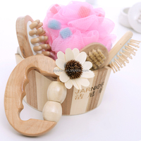 Natural Wood Caddy Spa Holiday Gift Set ,Promotional gift