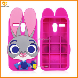 new products 2016 3d rabbit cartoon silicone cellular for motorola g