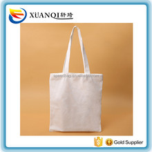 natural color blank canvas cotton shopping tote bag with top zipper