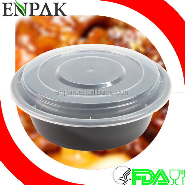 32oz Round disposable takeaway take-out Plastic food container