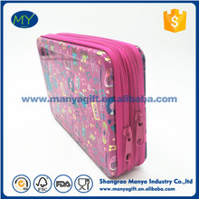 Top Quality Metal Tin Pencil Case With 2 Zipper