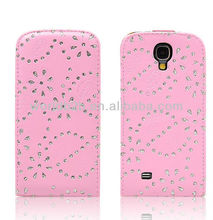 2013 New Fashion Luxury Diamond Flip Leather Case Cover for Samsung Galaxy S4 i9500