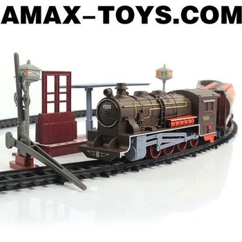 ect-2881601A3D music track train 1:87 Emulational track train set with music and lights